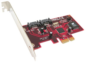 2 Port Internal SATA II Card RAID 5 Function PCI Express